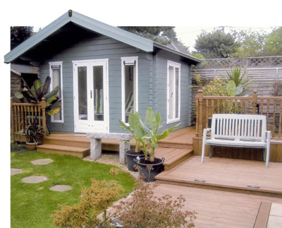 Lugarde summerhouses log cabins bbq huts playhouses for Luxury garden sheds