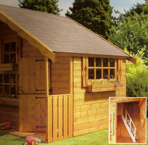 Bedfordshire garden buildings sheds summerhouses log for How to build a 2 story playhouse