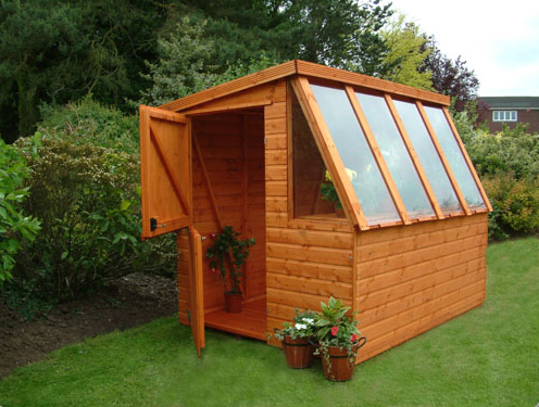 ore garden shed greenhouse combination. Black Bedroom Furniture Sets. Home Design Ideas